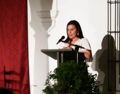 Lidia María Velasco presenta la gala final del concurso Casillas de Antequera